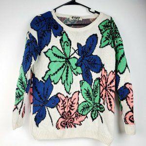 Vintage Envy Amazingly Chic Floral Sweater Sz S/M